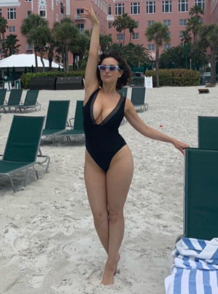 Milana Vayntrub swimsuit